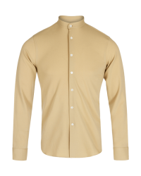 BAND COLLAR MERINO SHIRT